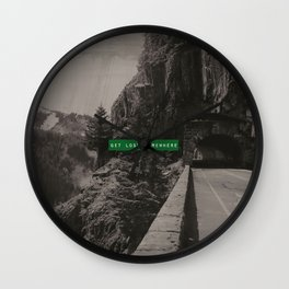 Get Lost Somewhere Wall Clock