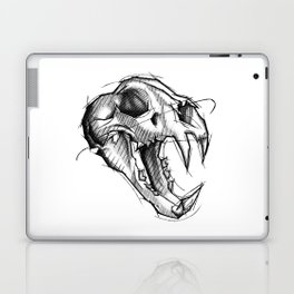 Tiger Skull Handmade Drawing, Made in pencil, charcoal and ink, Tattoo Sketch, Tattoo Flash, Sketch Laptop & iPad Skin