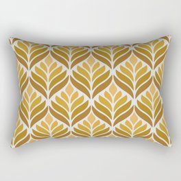 Yellow Retro Flower Pattern Rectangular Pillow