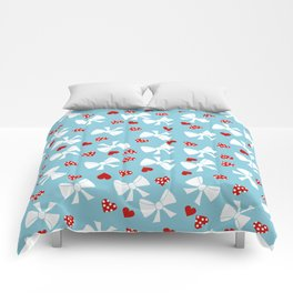 Lace gift wrap blue Comforters