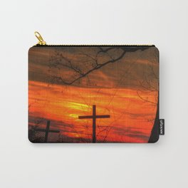 Cross and the sunset Carry-All Pouch