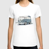 volkswagen T-shirts featuring Volkswagen Transporter by Rik Reimert