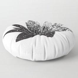 Boho - black and white lotus Floor Pillow