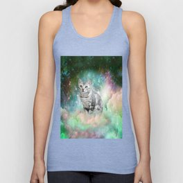 Purrsia Kitty Cat in the Emerald Nebula of Innocence Unisex Tank Top