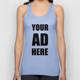 Your Ad Here (black) Unisex Tank Top