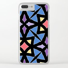 Stained Glass Color Pattern Art Clear iPhone Case