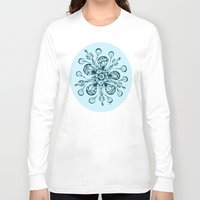 snowflake Long Sleeve T-shirts featuring Snowflake by Laura Maxwell
