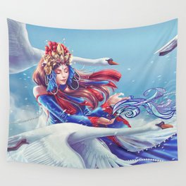 White Swan Wall Tapestry