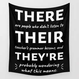 Love For Grammar II Wall Tapestry