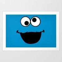 cookie monster Art Prints featuring Cookie Monster by Adel