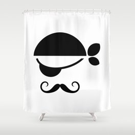 Pirate with an eye patch character design Shower Curtain