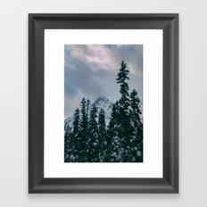 Cascade Winter Mountain Framed Art Print