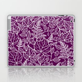 Plum Maple Leaves Laptop & iPad Skin