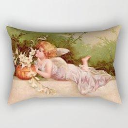 Vintage Garden Fairy Rectangular Pillow