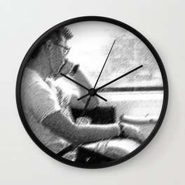 Man by The Window Wall Clock