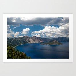 Cloud Camo Crater Lake Art Print