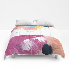 Cotton Candy: a bright, colorful abstract in pinks, blues, yellow, and white Comforters