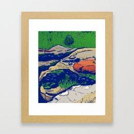 Fossil Gorge in Summer Framed Art Print