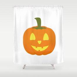 Classic light Halloween Pumpkin Shower Curtain