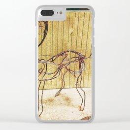 Copper Wire Sculpture Clear iPhone Case