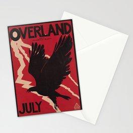 Affiche overland july. 1895  Stationery Cards