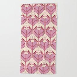 Origami Heart Beach Towel