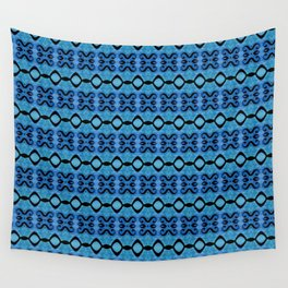 Lines in syphony blue Wall Tapestry