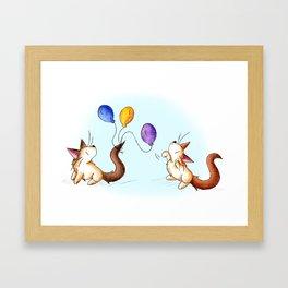 Party Prep Playfulness Framed Art Print