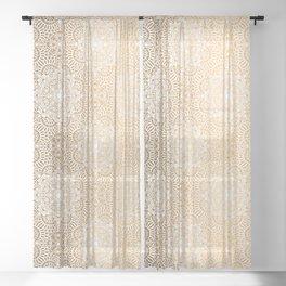 Gold Mandala 18 Sheer Curtain