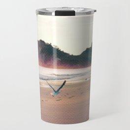 Sunset over the beachfront Travel Mug