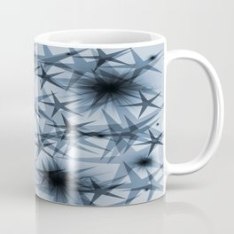 magic stars blue,black christmas pattern Coffee Mug