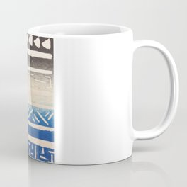 Flag Print- Black White and Blue Coffee Mug
