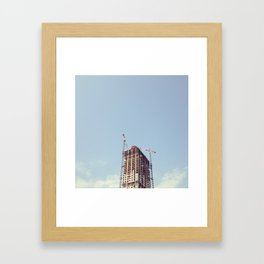 #322 A time to tear down and a time to build up Framed Art Print