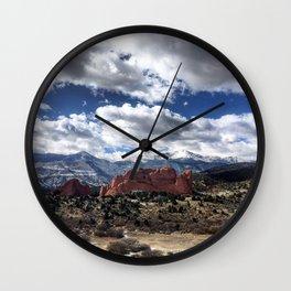 Pikes Peak in Colorado Springs Wall Clock