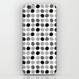 Yves - greyscale monochrome minimal pattern dots art print cell phone case for modern decor iPhone Skin