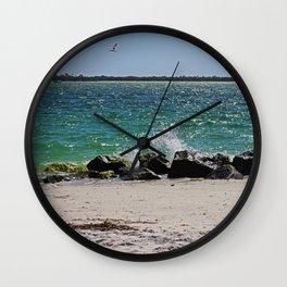 Teal Rapture Wall Clock