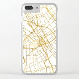 SAN JOSE CALIFORNIA CITY STREET MAP ART Clear iPhone Case