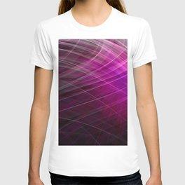 Linear Pattern-Purple T-shirt