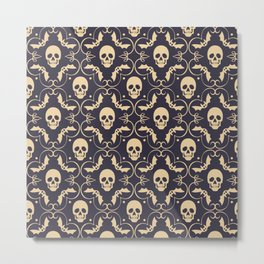 Happy halloween skull pattern Metal Print