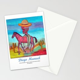 Johnny Herradura a caballo. Stationery Cards
