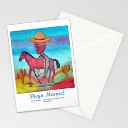 Johnny Herradura a caballo. Stationery Cards