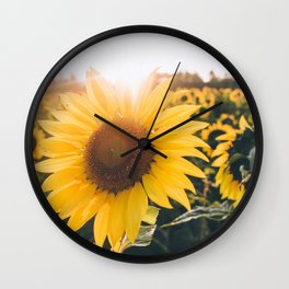 Golden Sun, III Wall Clock