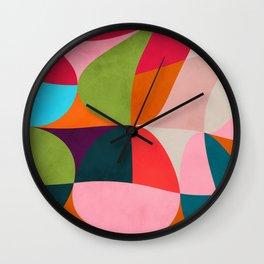 shapes spring colors Wall Clock