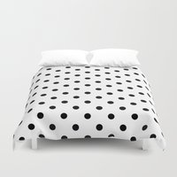 dots Duvet Covers featuring Dots by Kings in Plaid