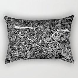 Munich Black Map Rectangular Pillow