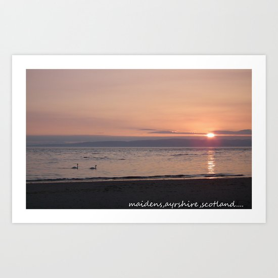 maidens,ayrshire scotland.. Art Print
