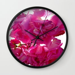 Magenta cascade IV Wall Clock