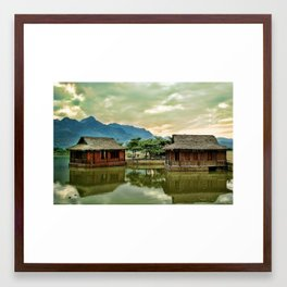 Water Huts Framed Art Print