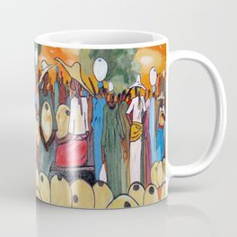 African Village Market Square Coffee Mug