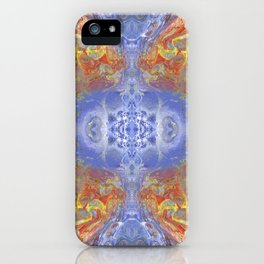 Psycho - Fire surrounding Ice with great depth by annmariescreations iPhone Case